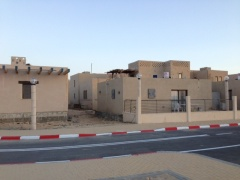 Some of the homes built by the Ayalim students at Adiel in which they now live.