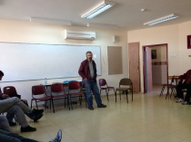 Rabbi Marc Rosenstein speaking with our Israel group December 27, 2012 in Nahaf