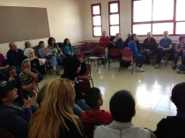 Discussion with Israeli Arab high school students in Nahaf