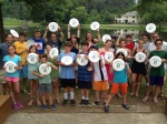With Rabbi Neil HIrsch and some of our Temple Shalom campers and staff at Eisner Camp