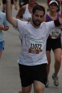 Rabbi Hirsch completing the 2007 NYC 1/2 Marathon