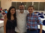 With Louis Stein and Anna Kim at Kibbutz Tzuba